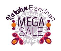 affiche de la méga vente raksha bandhan vecteur