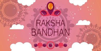 conception de bannière joyeux raksha bandhan vecteur