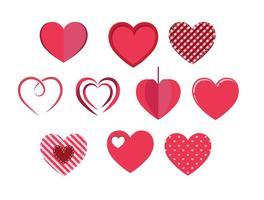 Coeurs vecteur libre