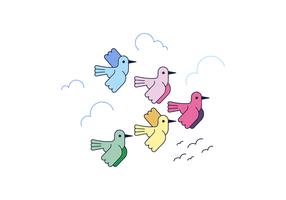 Migration des oiseaux vecteur libre