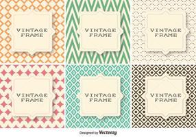 Vector Set Of Retro Vintage Patterns Avec Formes géométriques
