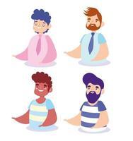 ensemble d'avatars hommes vecteur