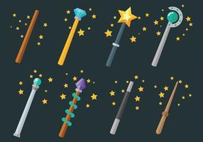 Magic Stick Icônes vecteur libre