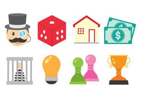 Lumineux Monopoly icône Vecteurs
