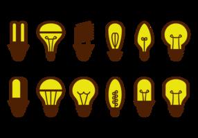 Ampoule icônes vectorielles vecteur