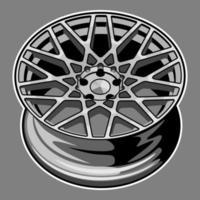 dessin de roue de voiture vecteur