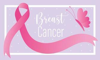 bannière du mois de sensibilisation au cancer du sein vecteur