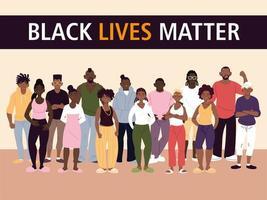 les vies noires comptent avec les femmes et les hommes