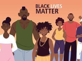 les vies noires comptent avec les familles