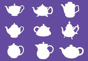 Teapot Icônes vecteur libre