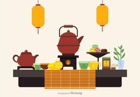 Cérémonie du thé gratuit icônes vectorielles