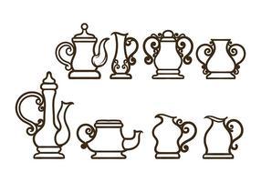 Simples vecteurs Teapot vecteur