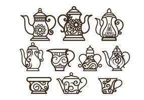 Teapot décoratifs Vecteurs vecteur