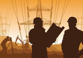 Surveyor électricité vecteur libre