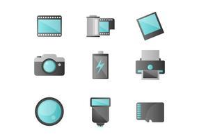 Photographie gratuit icônes vectorielles vecteur