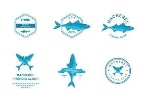 Maquereau Création de logo vecteur