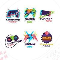logo de jeu cool et ludique vecteur
