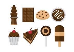 Icônes de chocolat gratuites