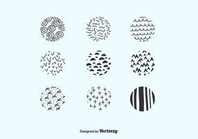 Cercles à la main Drawn Vector pack
