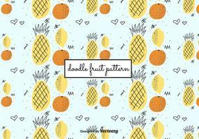 Motif Doodle Fruit vecteur