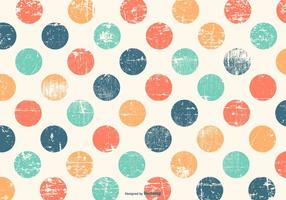 Mignon Colorful Polka Dot Grunge Background vecteur
