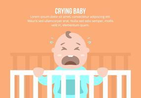 Pleurer Contexte bébé vecteur