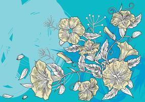 Fond décoratif floral ou Petunia Flowers Background vecteur