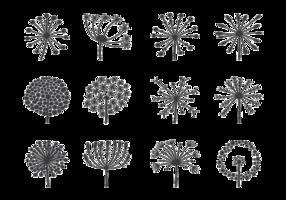 Blowball Icons Vector