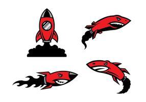 Vecteur gratuit de mascottes de Rockets