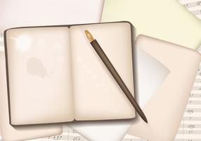 Vintage Blank Block Notes vecteur