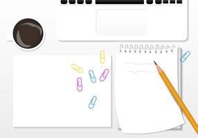 Moderne Blank Block Notes vecteur