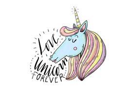 Illustration Unicorn Gratuit vecteur