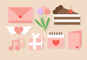 Love Day Elements Vector Cute Valentine