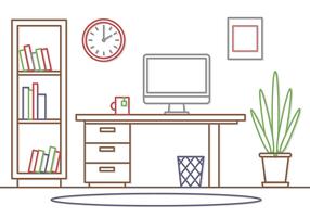 Free Vector Bureau Workspace