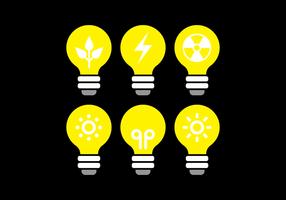 Icône Ampoule Vector Set