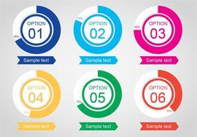 Vector gratuit Infographic Pourcentages