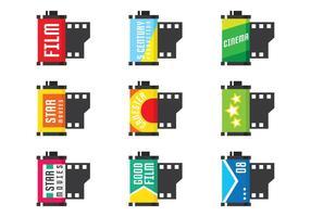 Set de boite de film vecteur