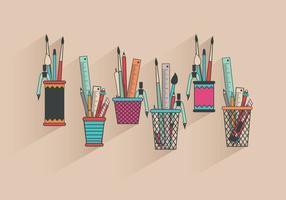 Fun Colorful Vecteurs Pen Holder vecteur
