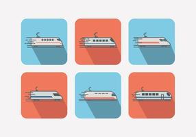 Haute vitesse TGV ferroviaire train urbain icône plat