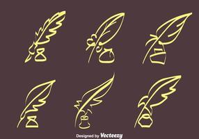 Croquis Inkwell Vecteurs