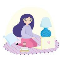 jeune femme, sur, ordinateur portable, chez soi