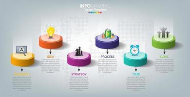 infographie pour entreprise avec concept de réussite