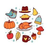 icône dessinée à la main de Thanksgiving vecteur