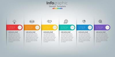 modèle infographique de chronologie avec des icônes dans le concept de succès vecteur
