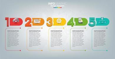 modèle infographique et icônes. concept d'entreprise avec des processus.