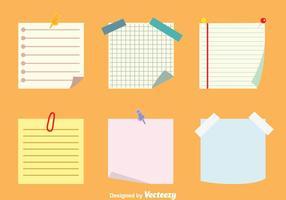 Post-it Notes de vecteurs Set