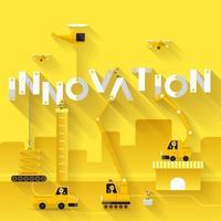 chantier de construction grue bâtiment innovation texte vecteur