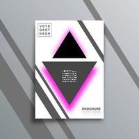 abstrait avec la conception de formes de triangle