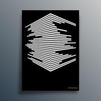 typographie géométrique abstraite avec des lignes de perspective vecteur