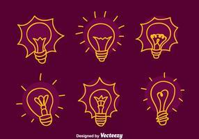 Ampoule Sketch lumière Vecteurs vecteur